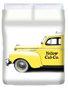 Yellow Cab Square Duvet Cover