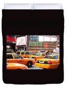 Yellow Cabs Duvet Cover