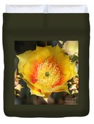 Yellow Cactus Flower Square Duvet Cover