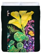 Yellow Cala Lilies Duvet Cover