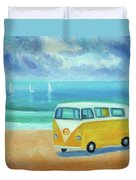 Yellow Camper Duvet Cover