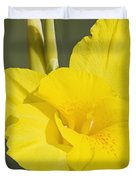Yellow Canna 2 Duvet Cover
