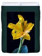Yellow Canna Flower Duvet Cover