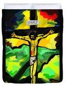 Yellow Christ  After Gauguin Duvet Cover