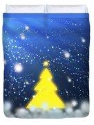 Yellow Christmas Tree Duvet Cover