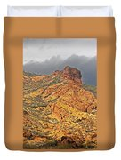Yellow Colored Rock Along The Apache Trail Duvet Cover