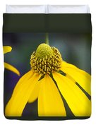 Yellow Cone Flower Rudbeckia Duvet Cover