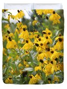 Yellow Cone Flowers Duvet Cover