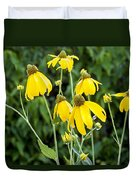 Yellow Cone Flowers Rudbeckia Duvet Cover
