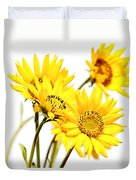 Yellow Country Wildflowers Duvet Cover