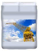 Yellow Crane And Sky Duvet Cover