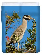 Yellow Crown Night Heron Duvet Cover