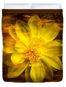 Yellow Dahlia Under Water Duvet Cover