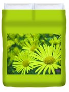 Yellow Daisies Close-up Duvet Cover