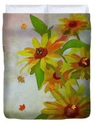 Yellow Daisy Flowers  Duvet Cover