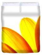 Yellow Daisy Petals Macro Duvet Cover