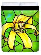Yellow Day Lily Duvet Cover
