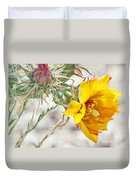 Yellow Desert Flower Duvet Cover