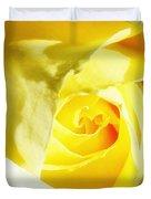 Yellow Diamond Rose Palm Springs Duvet Cover