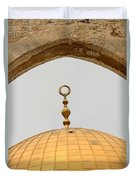 Yellow Dome Duvet Cover