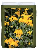 Yellow Echinacea Duvet Cover