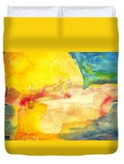 Yellow Explosion Duvet Cover