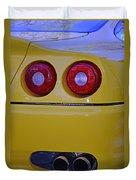 Yellow Ferrari Tail Lights Duvet Cover