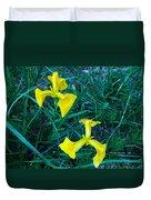 Yellow Flag Iris Duvet Cover