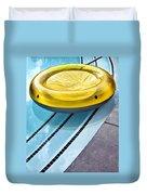 Yellow Float Palm Springs Duvet Cover