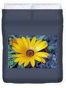 Yellow Flower Helianthus Duvet Cover