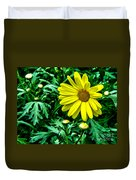 Yellow Flower Of Spring Duvet Cover