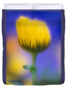 Yellow Flower With Dew Drops Duvet Cover