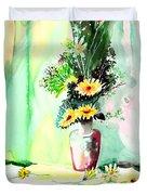 Yellow Flowers 1 Duvet Cover