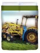 Yellow Ford Tractor Duvet Cover