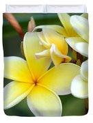 Yellow Frangipani Flowers Duvet Cover
