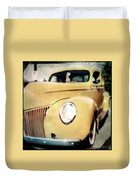 Yellow Gangsta Street Rod Duvet Cover