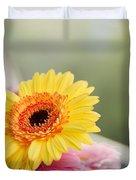 Yellow Gerber Daisy Duvet Cover