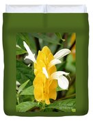Yellow Ginger Blossom Duvet Cover