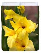Yellow Gladiolus Duvet Cover