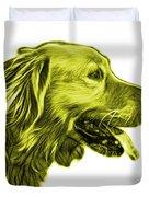 Yellow Golden Retriever - 4047 Fs Duvet Cover