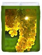 Yellow Grapes Duvet Cover