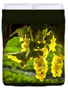 Yellow Grapes In Sunshine Duvet Cover by Elena Elisseeva