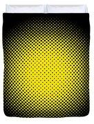 Optical Illusion - Yellow On Black Duvet Cover