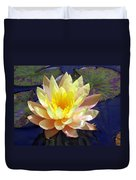 Yellow Hardy Water Lily Duvet Cover