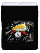 Yellow Harley Duvet Cover by Lainie Wrightson
