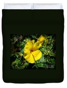 Yellow Hibiscus Hawaii State Flower Duvet Cover