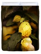 Yellow Hibiscus Late Afternoon Duvet Cover