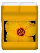 Yellow Hibiscus Duvet Cover