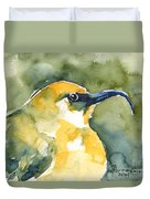 'akiapola'au - Hawaiian Yellow Honeycreeper Duvet Cover