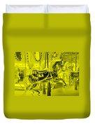 Yellow Horse Duvet Cover